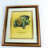 Tableau voiture en relief cadre bois