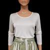 Neuf & étiquette Top Tee shirt Monoprix T 3 en soie écrue