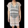 Neuf & étiquette robe tunique sur maillot Monoprix T L façon crochet blanc cassé