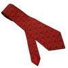 Cravate Hermès en soie rouge imprimé humoristique
