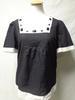 T-shirt en coton noir - Un jour Ailleurs - taille 42
