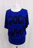 T-Shirt bleu à message   - 40