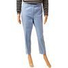 Pantalon Cos T 40 en piqué de coton bleu pastel