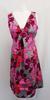 Robe rose à fleur   - 42 - KIABI