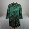 Chemise de style Chinoise de couleur verte avec motifs à fleurs taille M