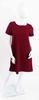 Robe bordeaux avec nœud fantaisie au dos   - S - WOMAN ONLY