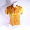 Chemisier à carreaux orange style années 70- Pimkie - T2