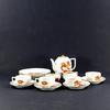 Service à thé, café ou dessert en porcelaine japonaise décor dragon signé