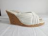 sandale femme en cuir et Tallon en bois-T36