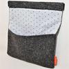 Matières recyclées : Housse de tablette en tweed doublée coton