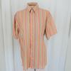 Chemise orange rayée