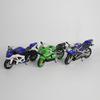 Lot de 3 motos miniatures Suzuki et Kawazaki