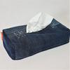 Jean recyclé : Housse de boîte à mouchoirs en papier ou tissu-  100% recyclée