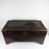 Coffre de rangements en bois avec décors Asiatique sculpté main fabriquer en Chine