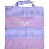 Sac Shopping Mauve Rayures Violettes et Blanches 38x38cm