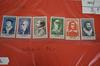 Lot de 6 timbres neufs - France - 1956