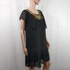 Robe noire manches courtes - Taille 40