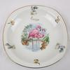 Lot de 2 assiettes en porcelaine décor Flamants roses