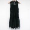 Robe longue noir en dentelle