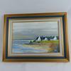 Tableau peinture à l'huile décor breton