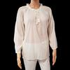 Neuf & étiquette Top tunique liquette blouse écrue Monoprix T 44