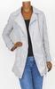 Manteau tendance gris