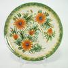 Plat en céramique décor floral