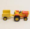 Tracteur et petite remorque en métal et plastique TONKA