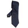 Cravate Pierre Cardin en soie damassée bleue