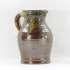 Grand pichet en céramique marron et vert