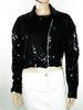 Veste Femme Vintage Noire Taille éstimée 40.
