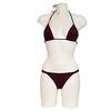 Neuf & étiquette maillot de bain Monoprix T.42 bikini 2 pièces triangle noir/ violet