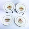 4 assiettes rondes Poisson