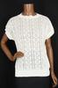 T-shirt en maille et perforation - Femme - T.46