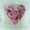 Tableau coeur boutons roses