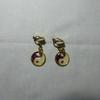 Boucles d'oreilles yin yang à clips