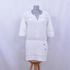 Robe à details ajourés 100% coton - IKKS - 36
