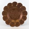 Plateau décoratif en cuivre