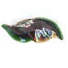 Plat à fruits vintage vallauris en forme de feuille