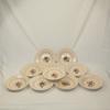 Lot 10 assiettes creuses en céramique de Sarreguemines