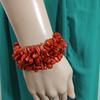 Joli bracelet en pierre rouge