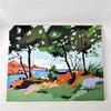 Tableaux de paysage en gouash stylisé-Artiste Inconnue-