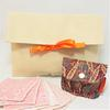Zéro-déchet cadeau : Pochette de voyage+ pochette à savon imperméable et 7 lingettes démaquillantes lavables Oeko- Tex GOTS