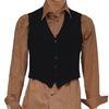 Gilet de costume homme couleur noir et bleu nuit vintage