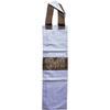 Sac à Baguette Marron Bleu Motif Pied-de-Poule 61x18cm