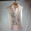 Chemisette Femme sans manches - Desigual - M - Rose pâle
