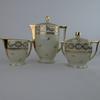 Service à thé 3 pièces en porcelaine d'art de Limoges