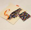 Zéro-déchet : Pochette de voyage en draps métis (coton et lin) + 7 lingettes démaquillantes lavables oeko- Text GOTS - Marguerites