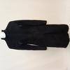Manteau noir femme imitation daim - T :  S