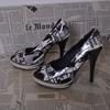 Chaussures à talons aiguilles et semelles plateformes - Femme - T40